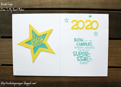 birthday card for young man - card open