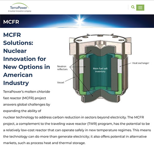 New innovations in nuclear power are safer and use spent fuel (Source: www.terrapower.com)