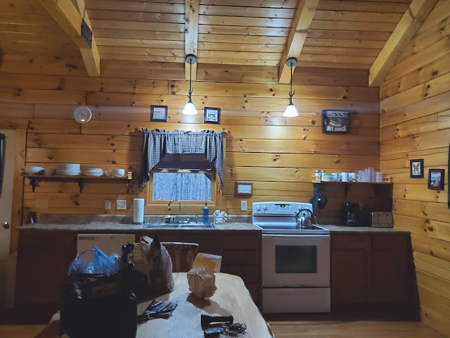 Kitchen in Getaway Cabins Whispering Woods #25 cabin in the Hocking Hills