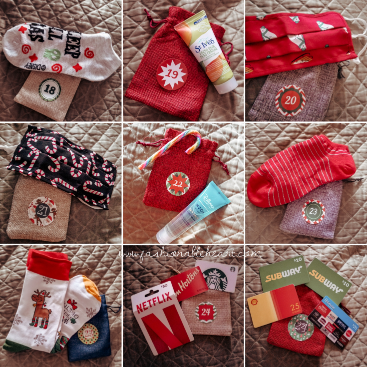 bblogger, bbloggers, lifestyle blogger, what i got for christmas, stocking stuffers, advent calendar, old navy, face masks, socks, gift cards