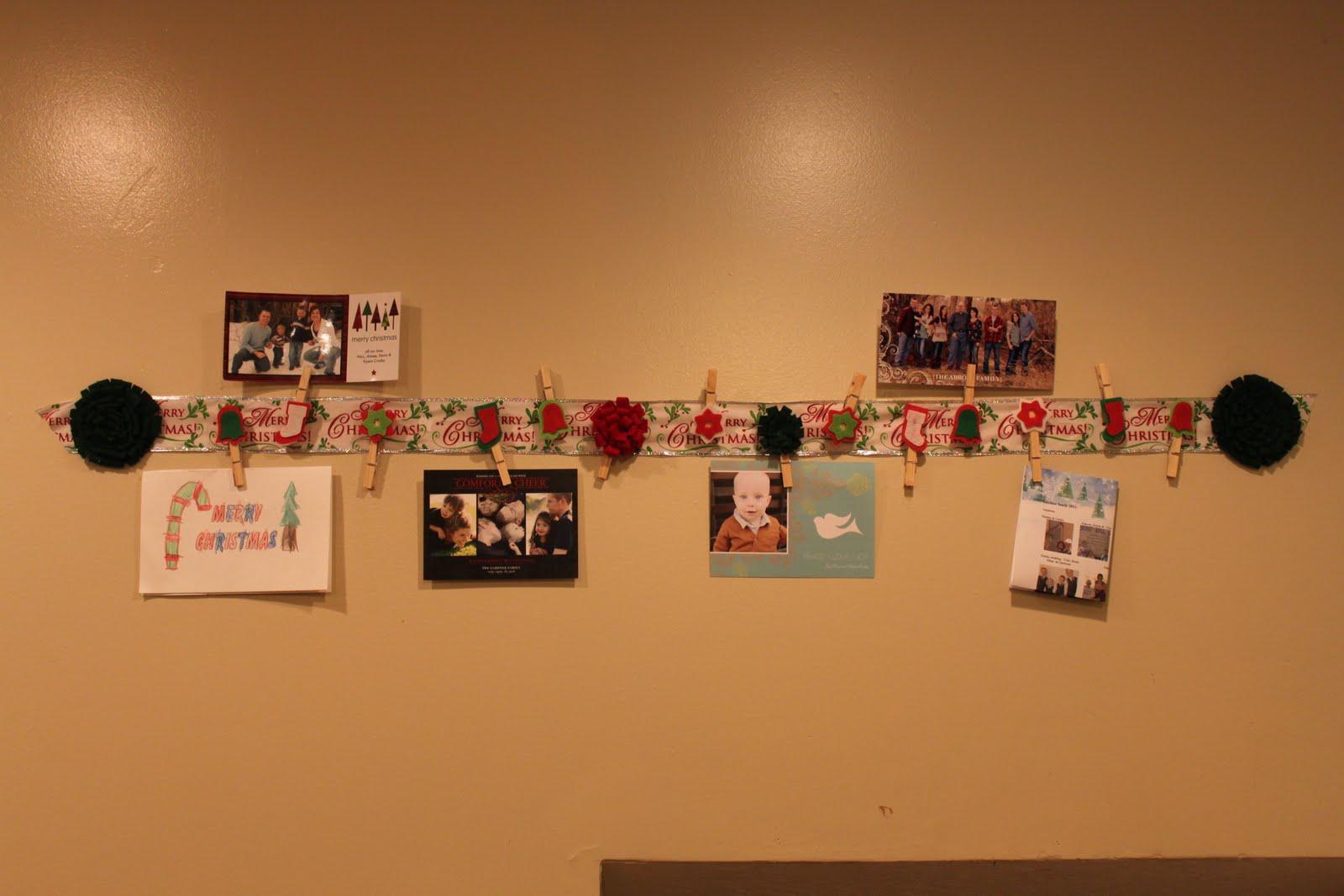 Wall Christmas Card Holder Credainatcon
