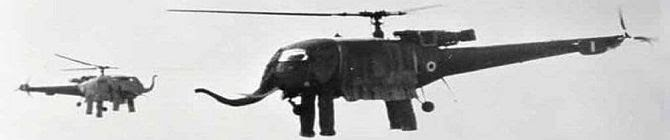 The Time When India Had Dancing Elephant Helicopters