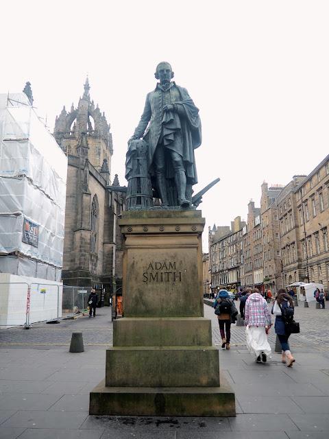 Adam Smith statue, Royal Mile, Edinburgh