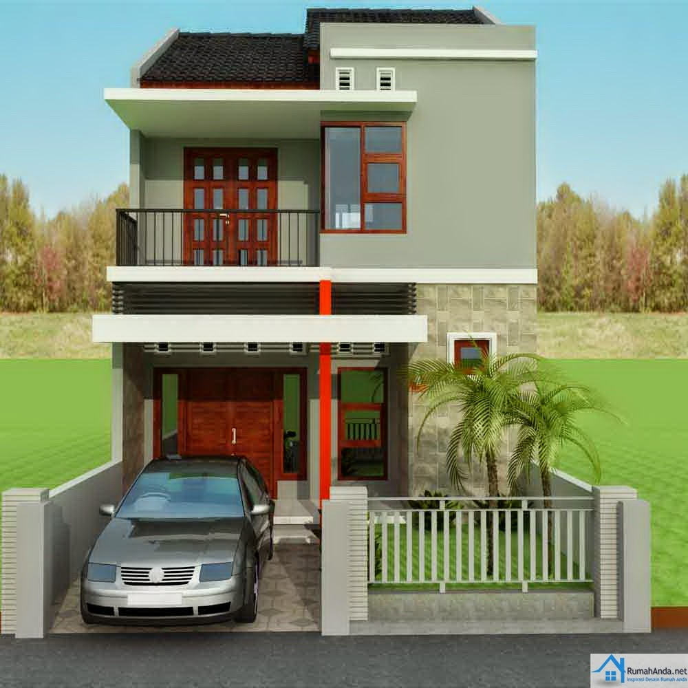 Desain Rumah 2 Lantai Ukuran 9x12 Contoh O