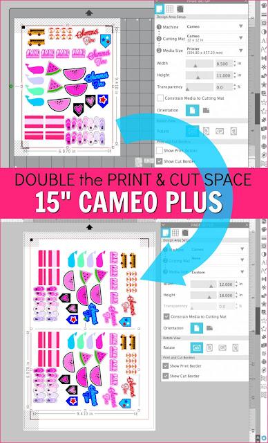 "15"" Silhouette CAMEO 4 Plus, Silhouette 101, Silhouette America Blog, 15"" Silhouette CAMEO Plus, Print and Cut, Printable Sticker Paper"
