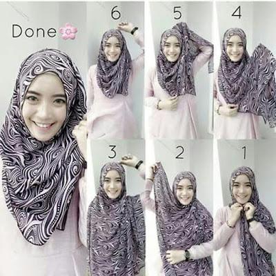 tutorial hijab pashmina arabian style