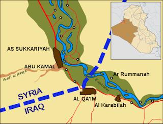 borders between Al-Bukamal and Al-Qaim