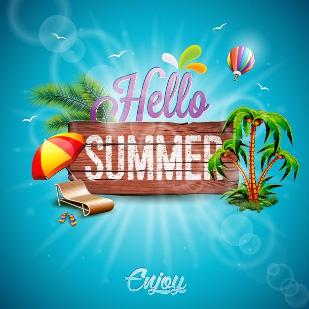 Summer background design Free Vector