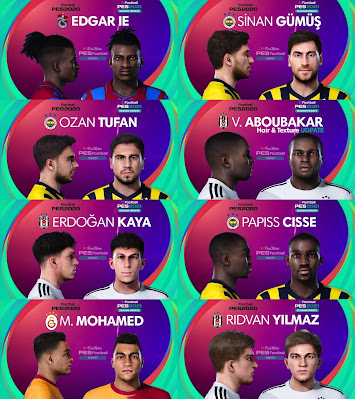 PES 2021 Turkey Süper Lig Facepack 7 by PES Football Turkey