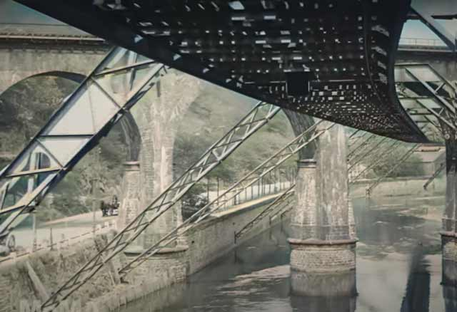 The flying train of Wuppertal, Germany in 1902 randommusings.filminspector.com