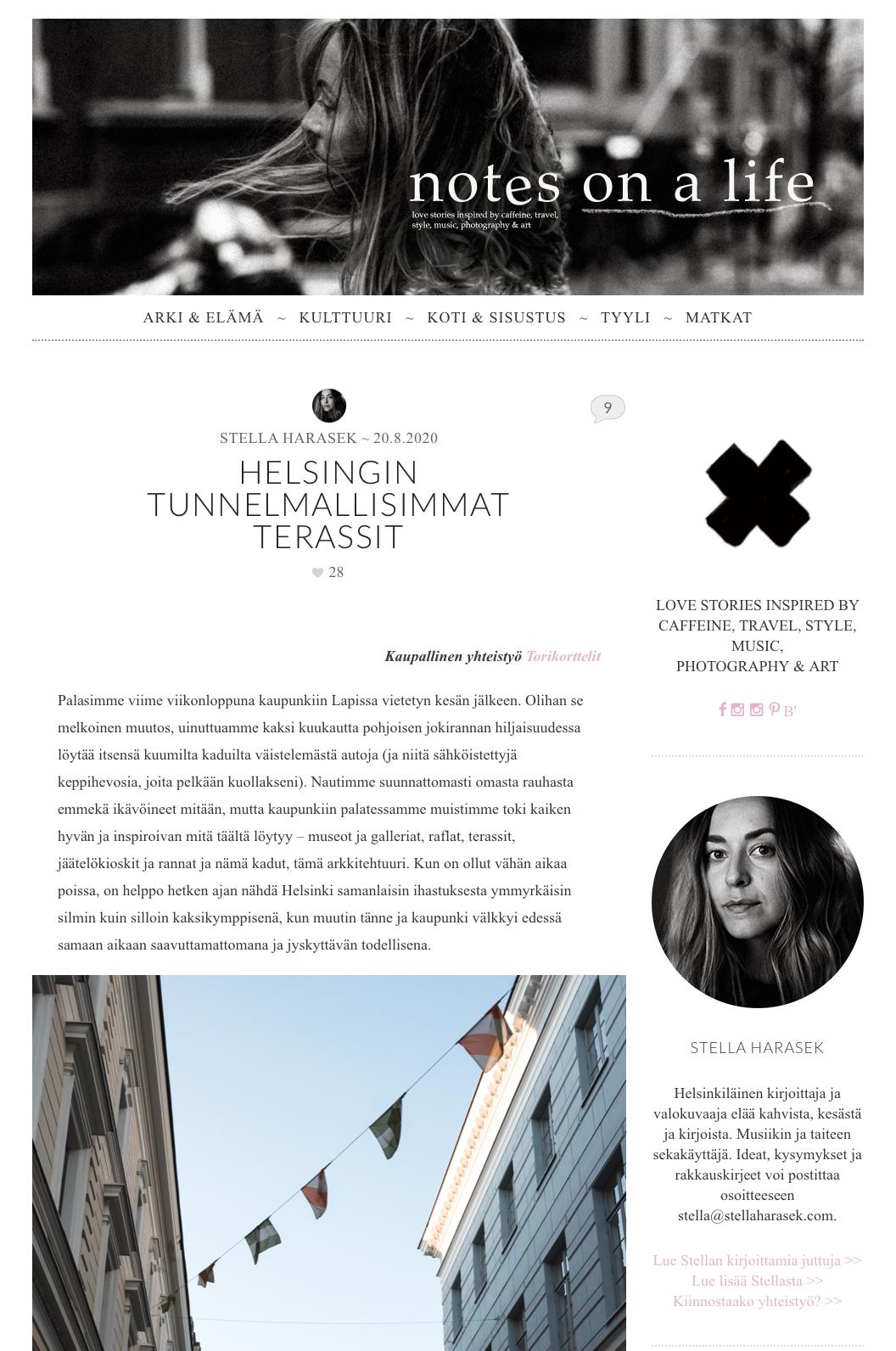 Stella Harasekin blogin etusivu