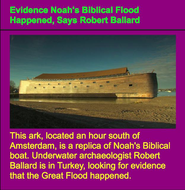 Noah's Biblical Flood Happened,