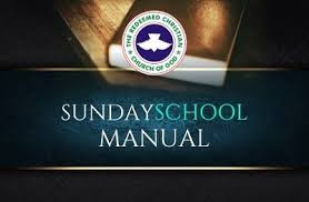 June 7 2020 RCCG SUNDAY SCHOOL STUDENT'S MANUAL