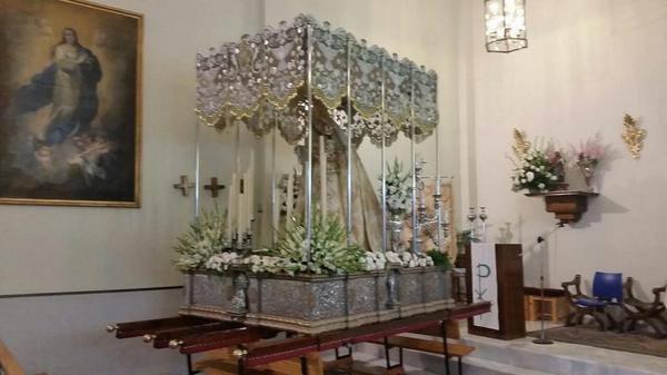 Horario e Itinerario de la Virgen de los Remedios, Patrona de Ambroz, para presidir la Vigilia de la Inmaculada Concepción de Granada