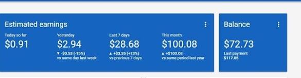 Alhamdulillah $100 Sebulan Dari Google Adsense Akhirnya Tercapai !