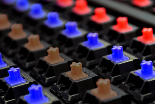 memilih switch mechanical keyboard red blue atau brown
