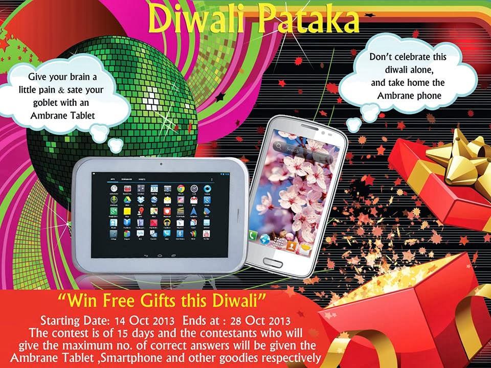 Diwali Pataka And Festival Celebration: Contest !! Diwali PAtaka Win Ambrance Tables, Smartphone