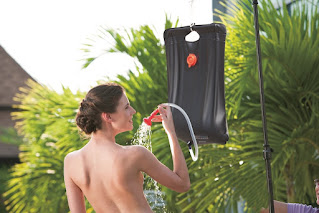 Warmwasser, Dusche, Heisse Aussendusche, Wärmetauscher, Durchlauferhitzer beim Camping, Overlanding oder Vanlife und Campen
