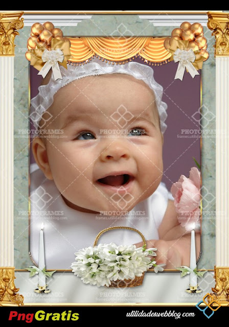 Darling Baby's Christening Frame For Baby Boy And Baby Girl.