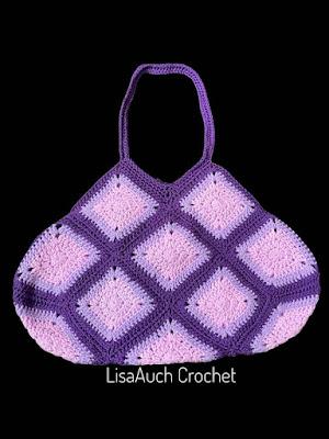 granny sqaure bag handles layout