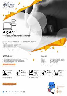 "PHYSICS SUMMIT PAPER COMPETITION MAHASISWA PTN/PTS  TINGKAT NASIONAL  ""PHYSICS SUMMIT 5th"""