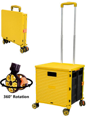 Foldable Storage Trolley with wheels