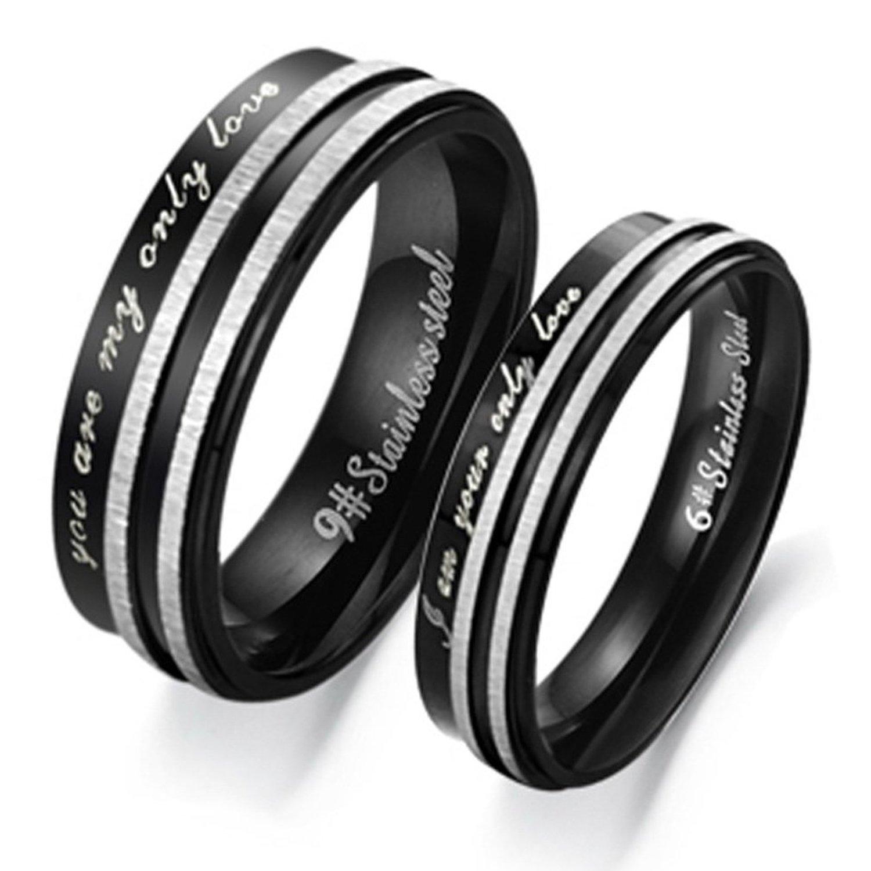 10 Model Cincin Couple Titanium Ukir Nama Untuk Kamu Yang