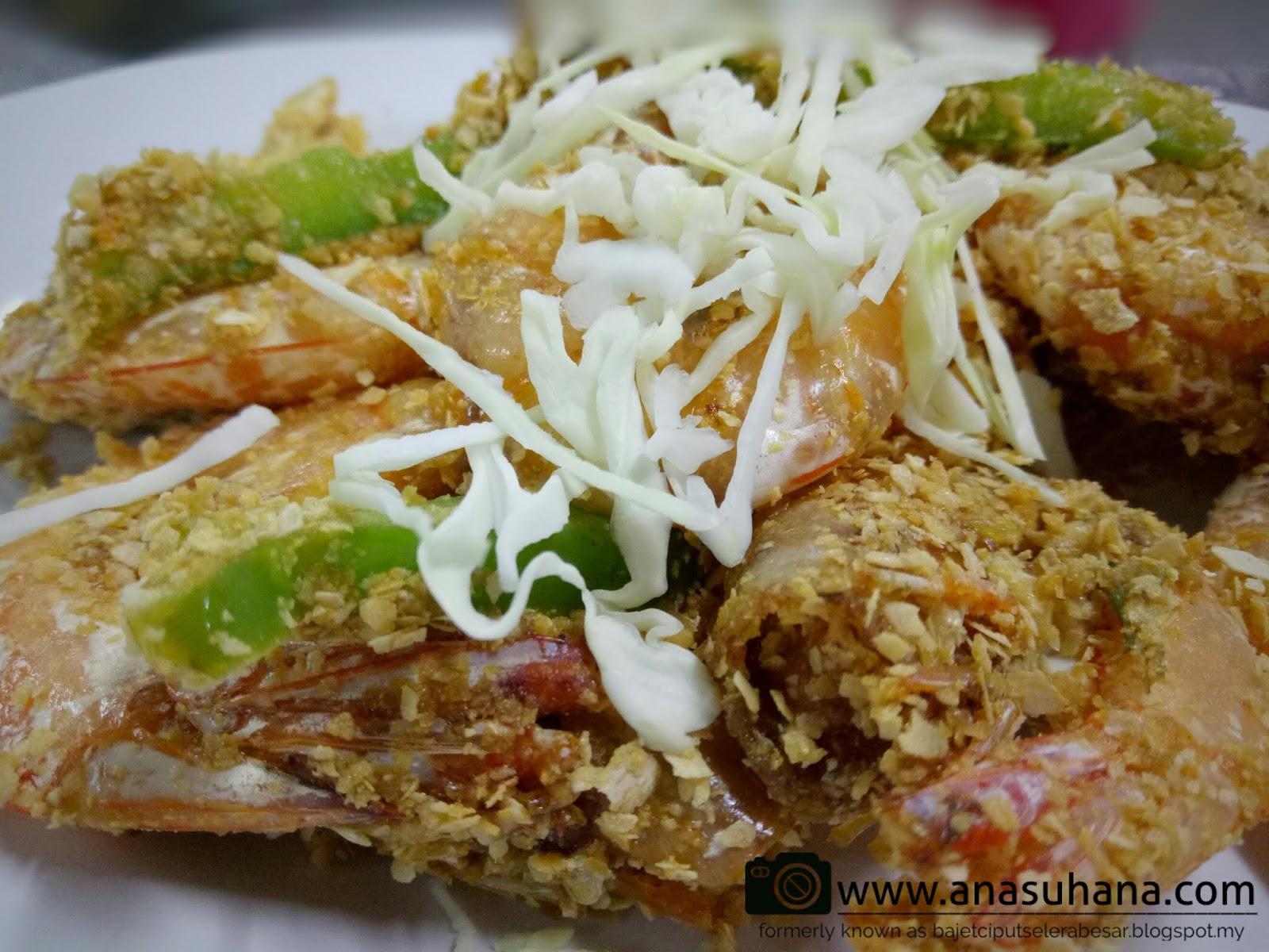 Tempat Menarik di Melaka : Makan Malam di Ikan Bakar Parameswara - Udang Goreng Butter