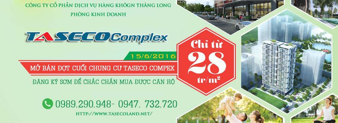Mua căn hộ chung cư Taseco Complex trực tiếp tại phòng kinh doanh TASECO GROUP