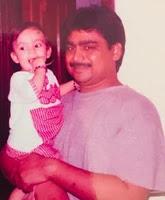 ishan kishan childhood photo with her father