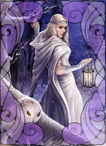 Arianrhod - Goddess illustrated by Anne Stokes