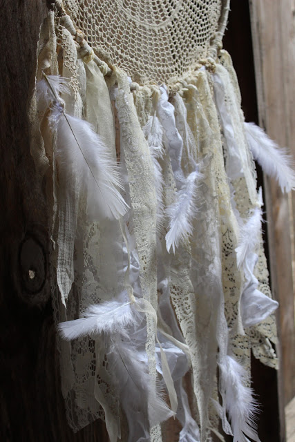 vintage lace dream catcher