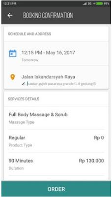 Cara Pesan Go-Massages di Gojek Untuk Pijat