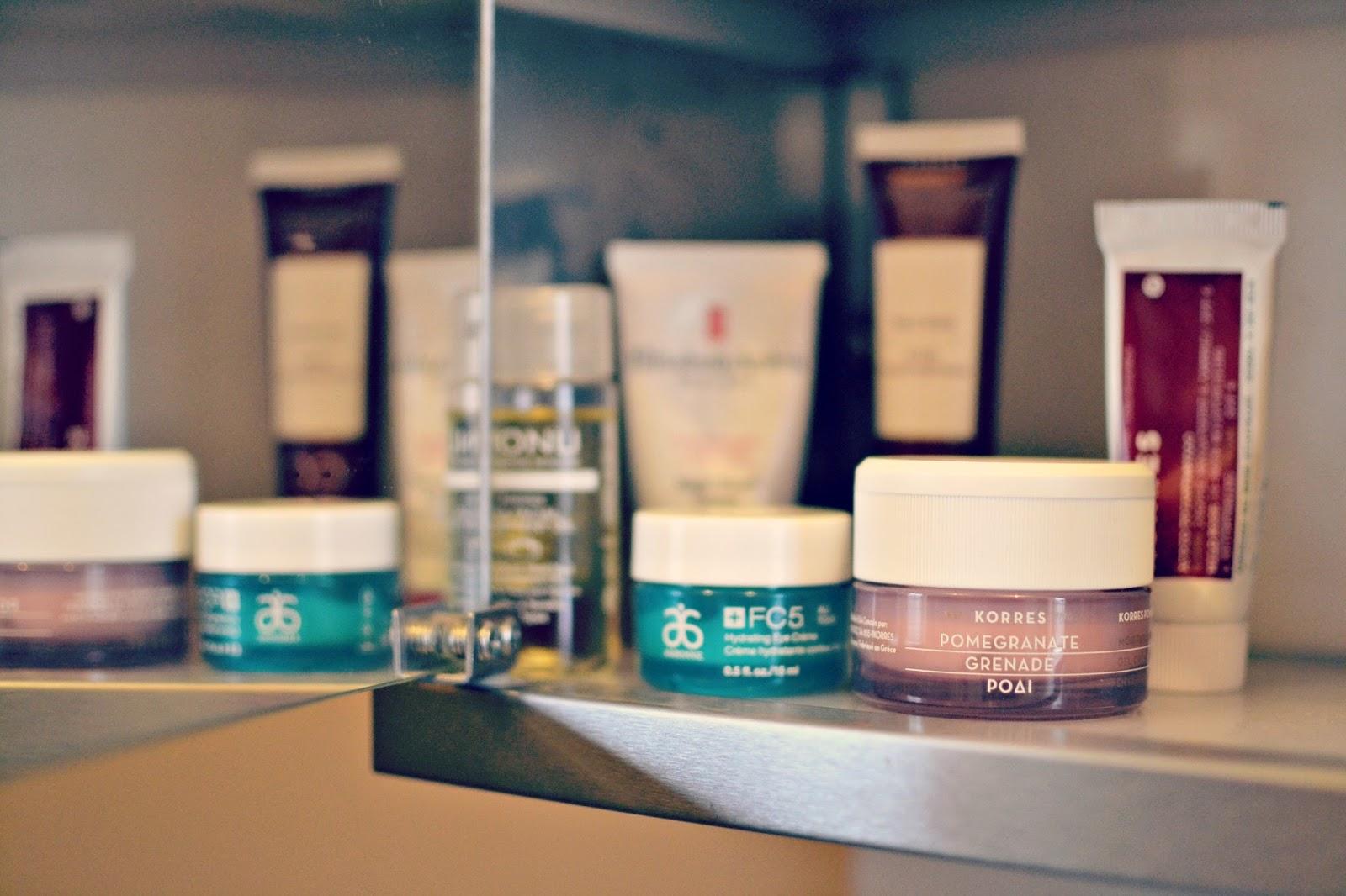 beauty blogger skincare musthaves Korres Arbonne Monu