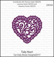 ODBD Custom Tulip Heart Die