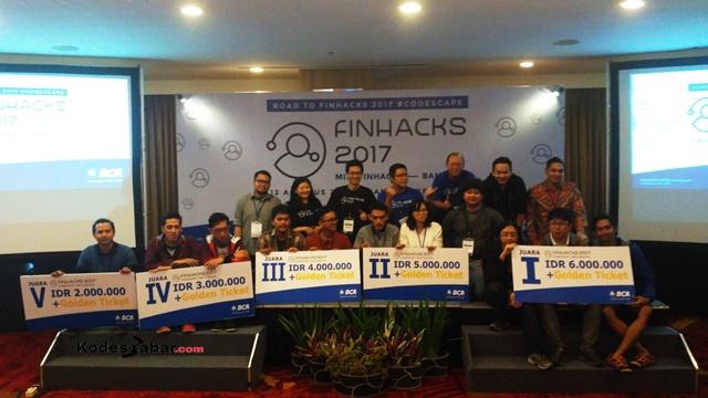 Pemenang Lima besar Mini Finhacks Bandung