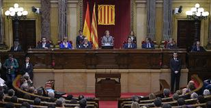 Catalonia suspends its declaration of independence