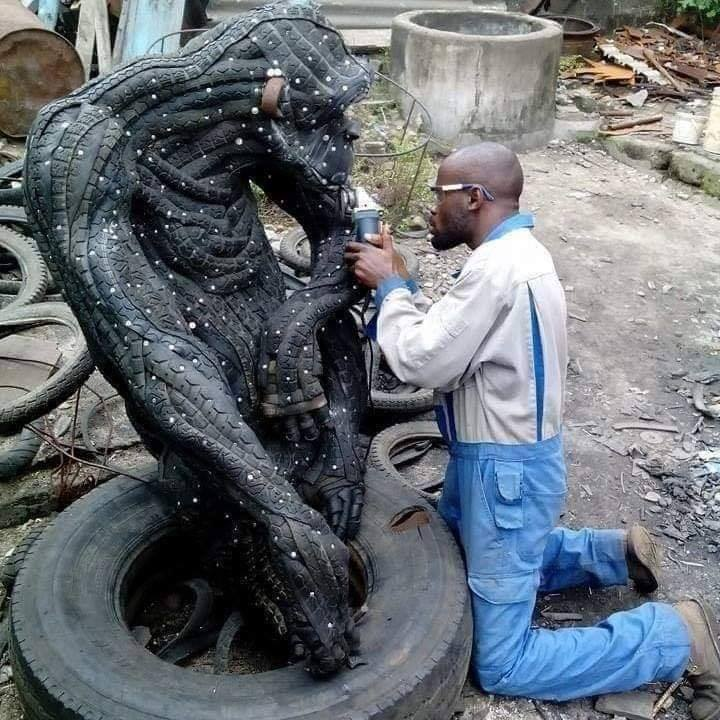 From Waste To Treasure: See What This Artist Is Doing With Used and Condemned Tires