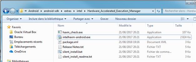 Installateur HAXM d'Intel pour Android