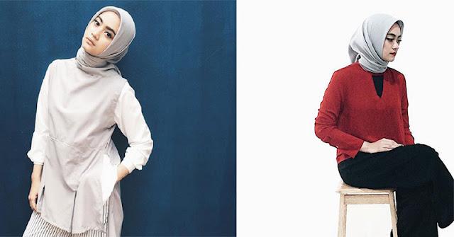 OOTD Hijab Simple dan Stylish ala Ayudia Bing Slamet