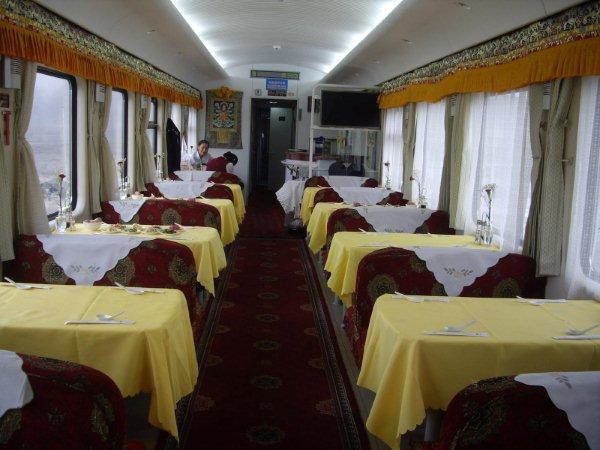 青藏鐵路火車餐車