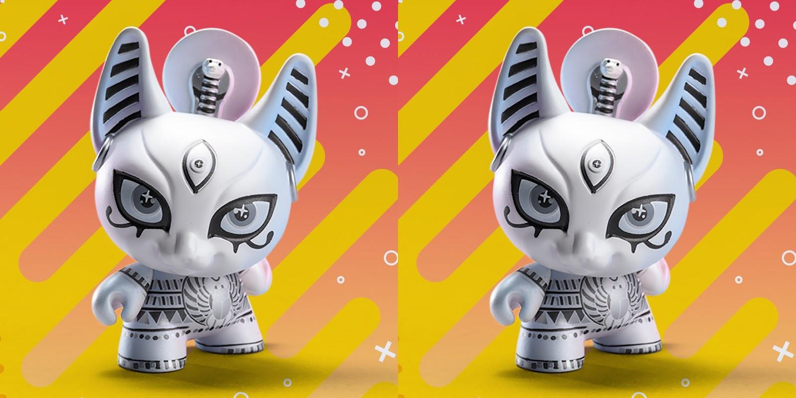 "Designer Con Kidrobot SPIRITUS DEA BASTET 3/"" Dunny In Hand!"