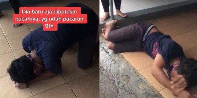 Pacaran 9 Tahun Ditinggal Nikah, Pria Ini Nangis Kejar sampai Guling-Guling di Lantai