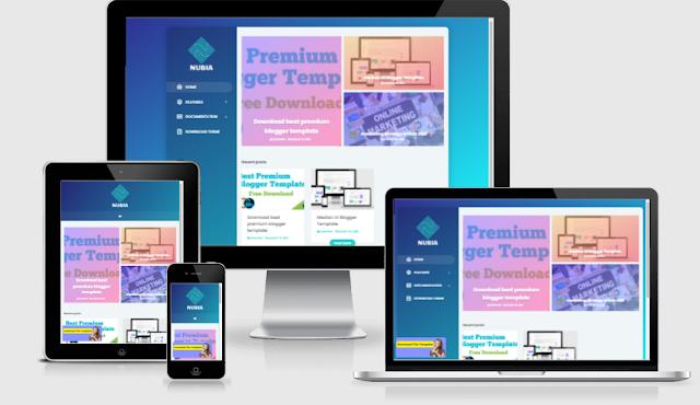 nubia premium blogger template download