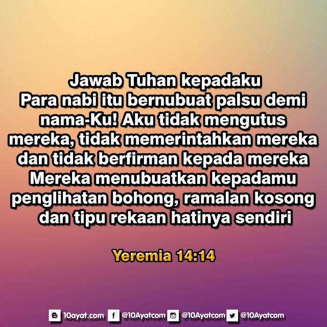 Yeremia 14:14