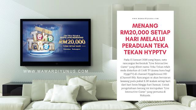 MENANG RM20,000 SETIAP HARI DENGAN PERADUAN TEKA TEKAN HYPPTV