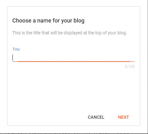 Chose a Name For Your Blog