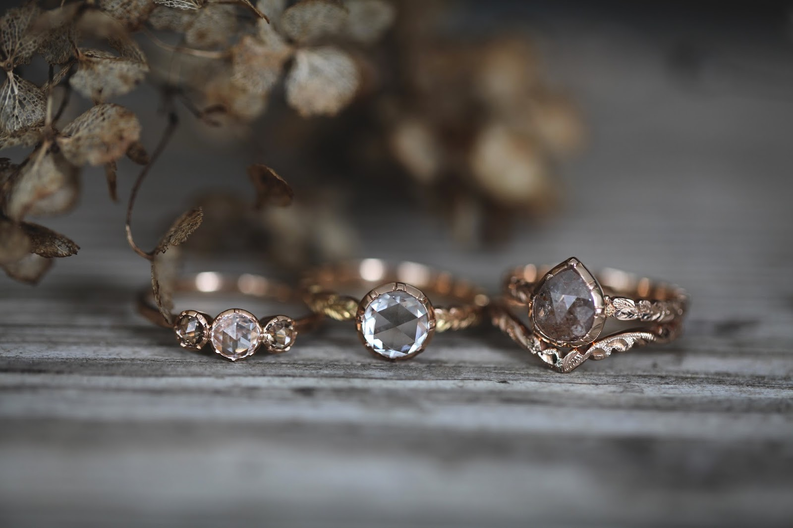 pearl rings with rust shade lampholder