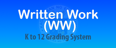 sample Written Work K to 12 Grading System