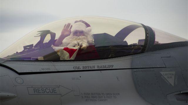 Santa in a jet